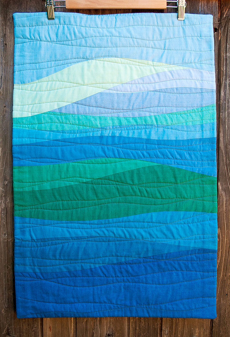 Quilting Designs For Water : Finish: Bay Area Landscape Quilt Play Crafts