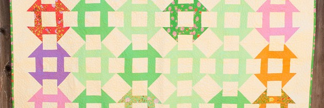 Blogger's Quilt Festival – Churn Dash