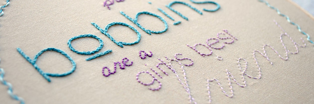 Finish: Sewing Sayings Embroidery