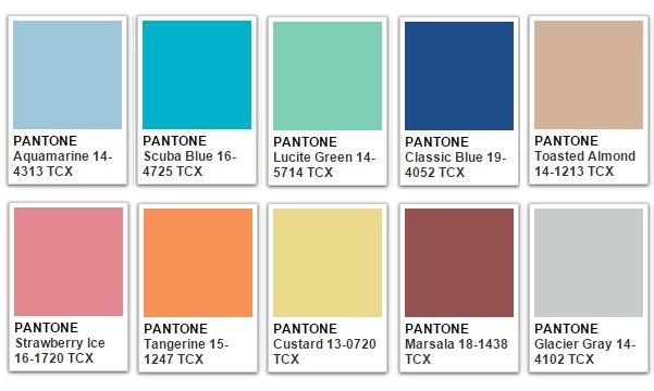 Colors Pantone Pantone Home Color Trends 2016